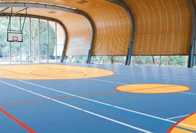 Kapalı Basketbol Alanı Zemin Uygulaması